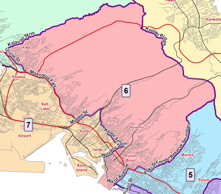 Map color district 6